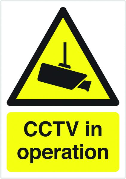 150x300mm CCTV in Operation - Self Adhesive