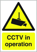 600x450mm CCTV In Operation - Post Mounted Aluminium
