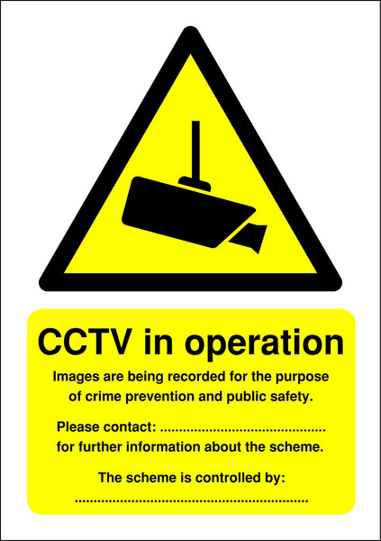 420x297mm CCTV in Operation (Data Protection Act) - Self Adhesive