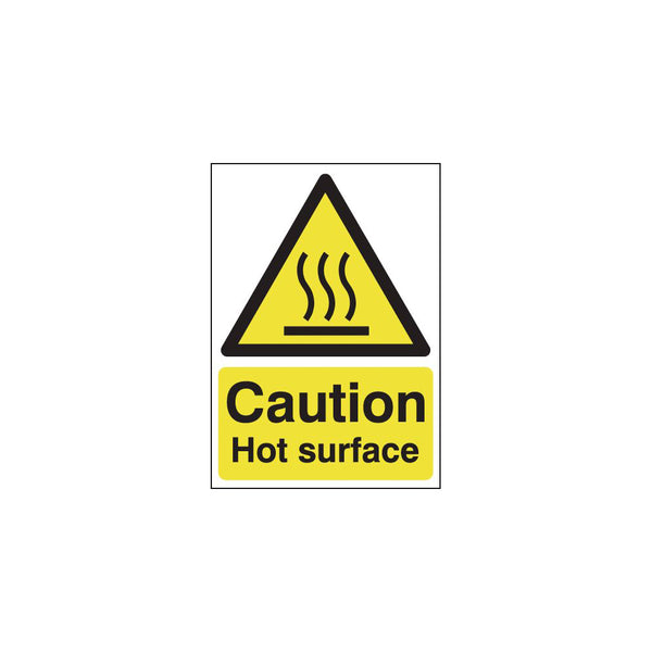 Caution Hot Surface Sign - 210 x 297mm (A4)
