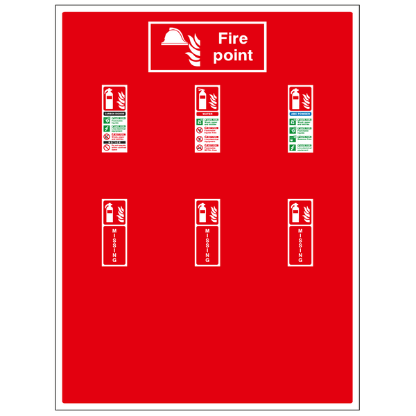 Extinguisher Board - Triple [900 x 1200mm]