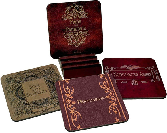 Jane Austen Novels Mug & Coaster Set