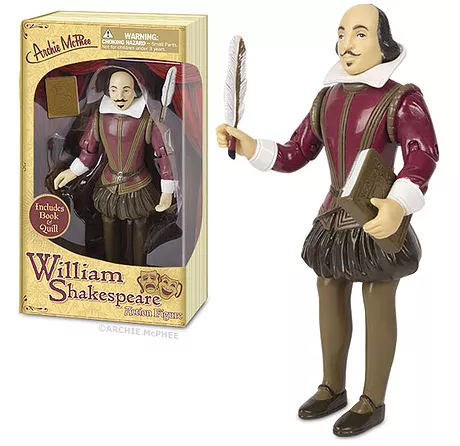 Archie McPhee William Shakespeare Action Figure