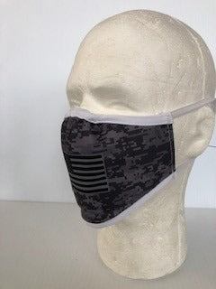 Face Mask - Digital Camo Flag