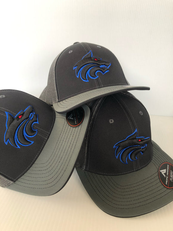 Hat - West Hills High School (Black/Silver hat)