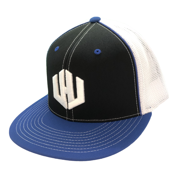 Hat - West Hills Baseball (Blue + Black/White Mesh)