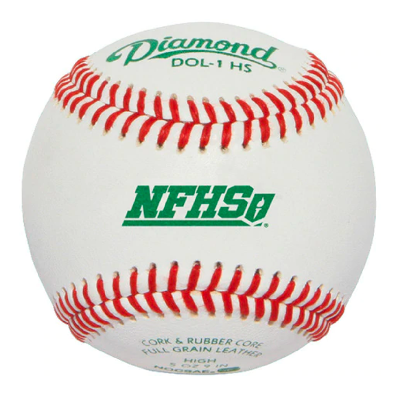 Diamond NFHS Baseballs - Case of 12