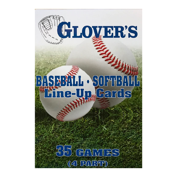 Glover's - Baseball/Softball Line-Up Cards