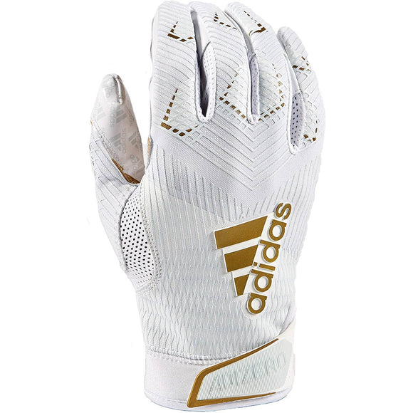 Adidas - Adizero 8.0 White/Gold Football Receiver Gloves