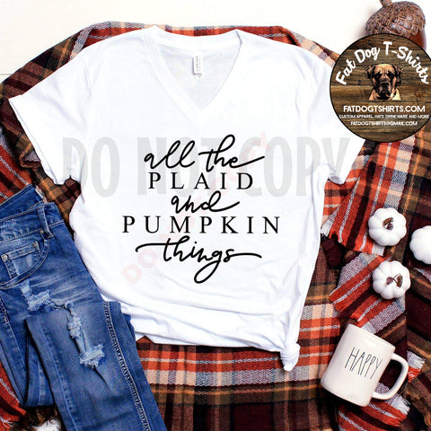 All the Plaid and Pumpkin Things-T-SHIRT AND Long Sleeve T-Shirt
