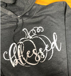 Blessed Distressed Charcoal Heather Hoodie