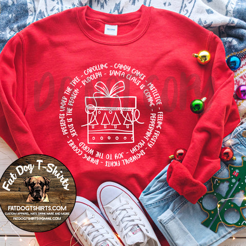 Christmas Gift-Words-Crew Sweatshirt/Long Sleeve T-Shirt