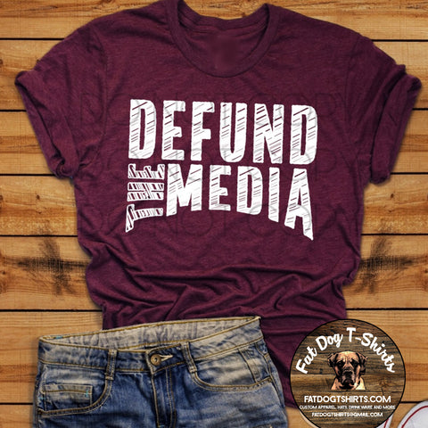 Defund the Media-Hoodie/T-Shirts/Long Sleeve T-Shirt