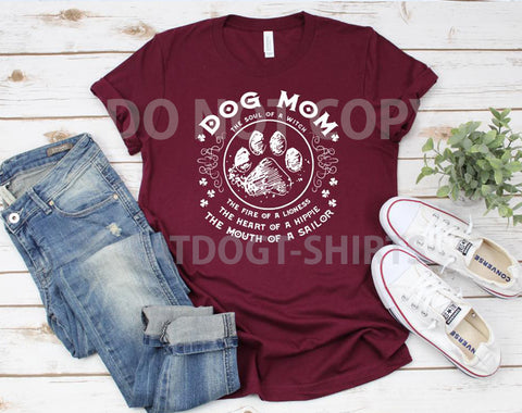 Dog Mom -T-SHIRT OR HOODIE