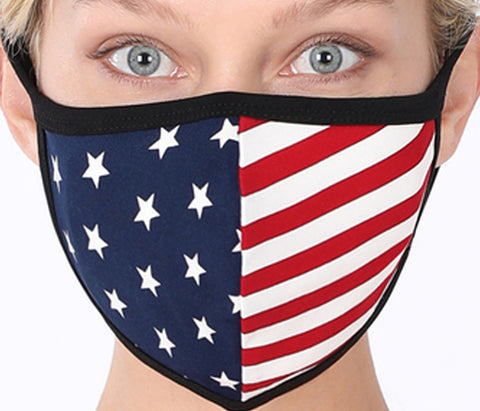 FACE COVER-AMERICAN FLAG FACE COVER