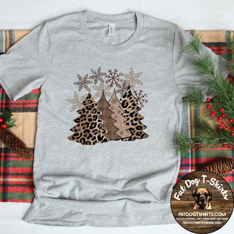 Winter Trees-Gold T-Shirts/Crew Sweatshirts