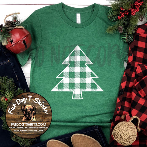Buffalo Plaid Tree-T-Shirt/Long Sleeve/Crew Sweatshirt