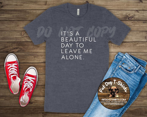 It's a Beautiful Day to Leave me Alone-T-Shirt/Hoodies