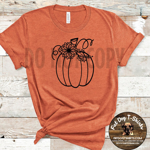 Fall Pumpkin-T-Shirt or Hoodie
