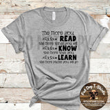 The More you Read-Hoodie and T-Shirt