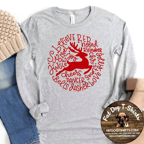 Reindeer-Long Sleeve/Crew Sweatshirts