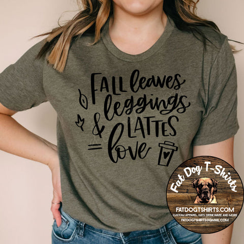 Fall Leggings Leaves Lattes Love-Long Sleeve/Hoodies/T-Shirts
