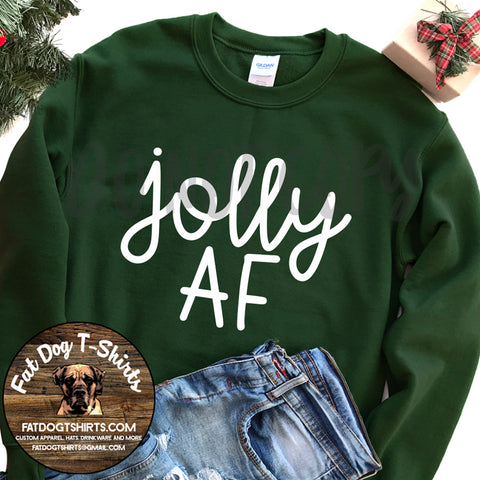 Jolly AF-Crew Sweatshirts/Long Sleeve T-Shirts