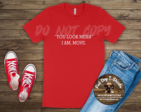 """You Look Mean""-T-Shirt/V-Neck"