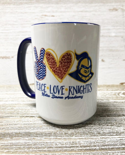 NDA MUG-PEACE, LOVE,  KNIGHTS