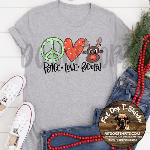 Peace, Love, Rudolph-T-Shirts/Hoodies