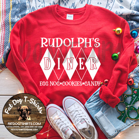 Rudolph's Diner-Crew Sweatshirts/Long Sleeve T-Shirts