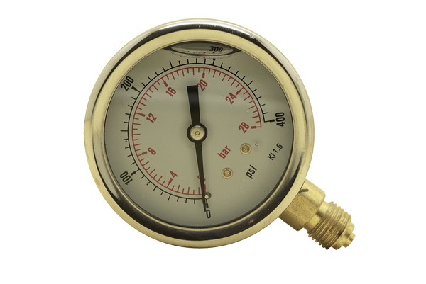 63mm Diameter Glycerine Filled Pressure Gauge