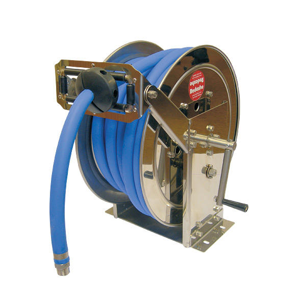 CRWM-1340SS Stainless Steel Manual Rewind Hose Reel