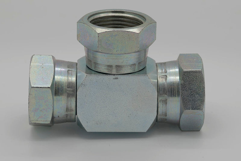 BSPP Swivel Female Tee 60° Cone