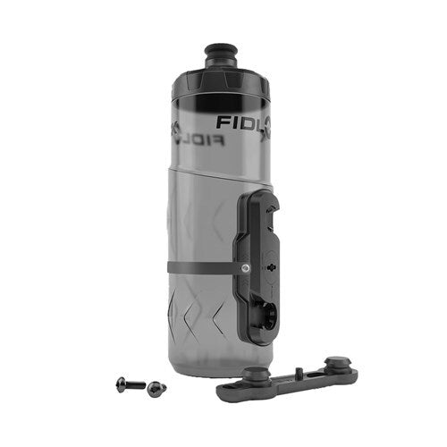 FIDLOCK BOTTLE 600ML WITH BIKE BASE TRANSPARENT BLACK