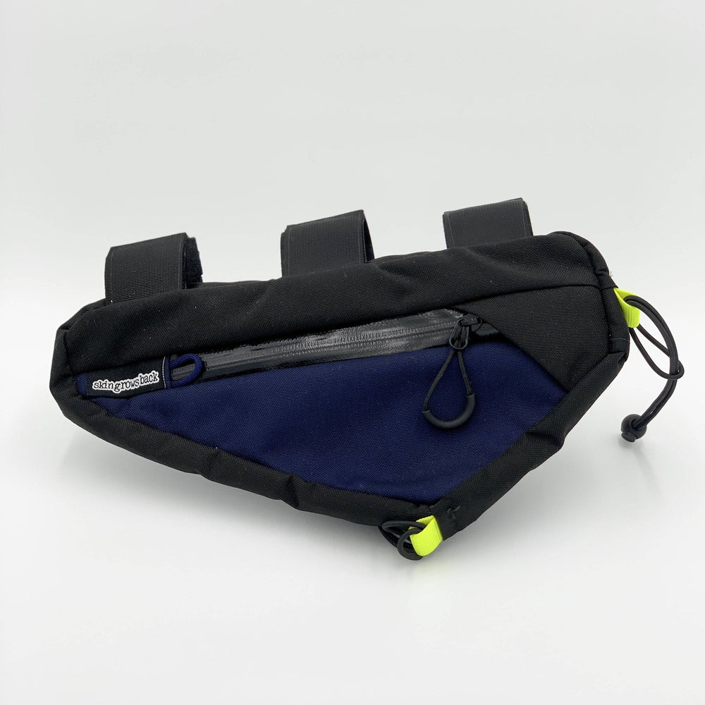 Load image into Gallery viewer, Skingrowsback - Wedge Frame Bag - Navy / Black