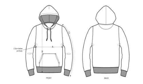 guide des tailles hoodie