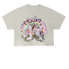TWICE RAINBOW ILLUSTRATION CROP T-SHIRT