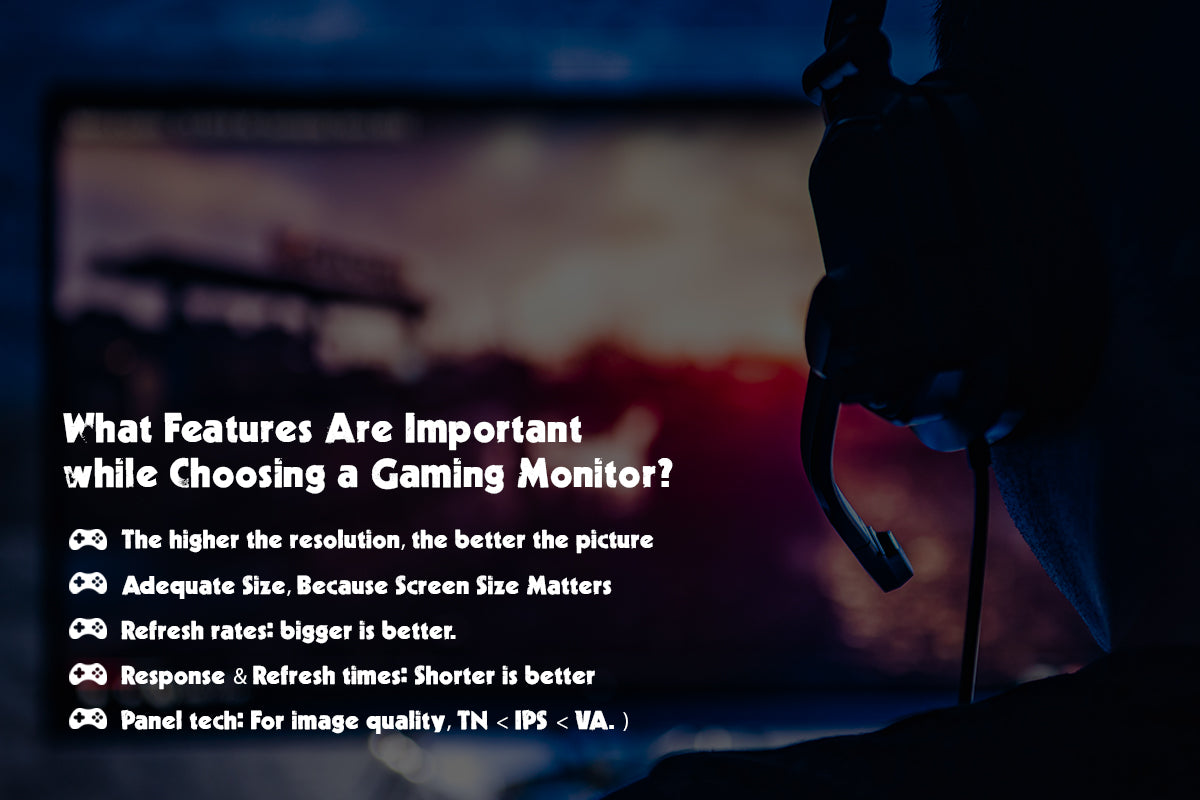 Important features to look for while selecting a gaming monitor