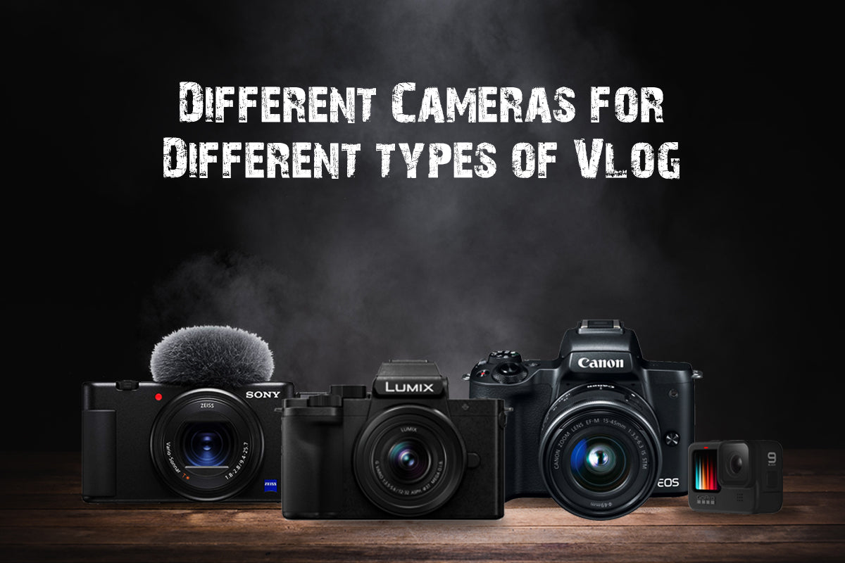 Different types cameras used for Vlogging
