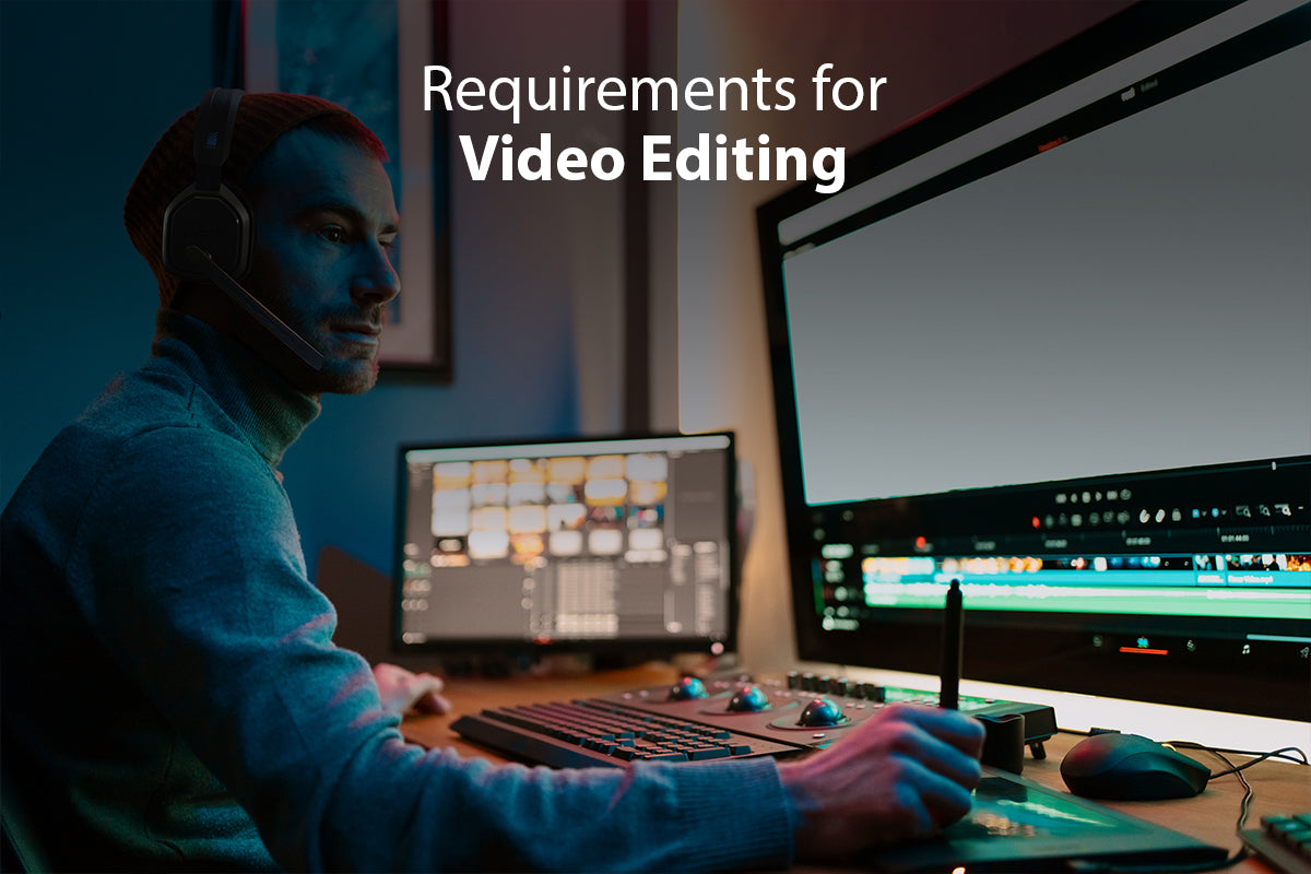 Laptops and Headphones for Video Editing
