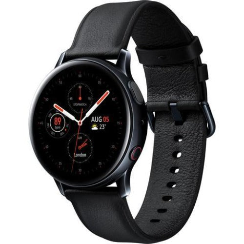 Samsung Galaxy Watch Active2 40mm LTE (Stainless Steel/Black) Tilted