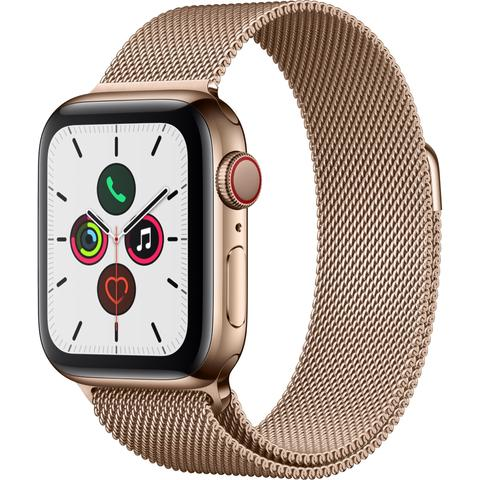 Apple Watch Series 5 40mm Gold Stainless Steel Case with Milanese Loop GPS + Cellular