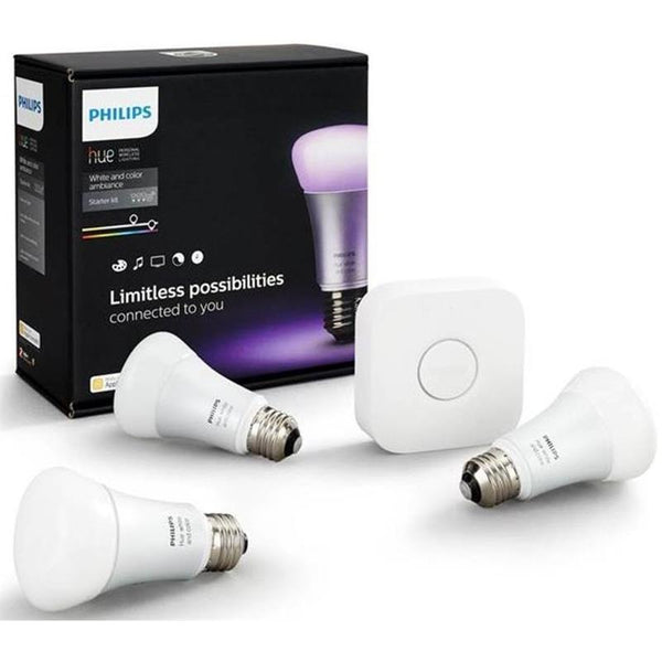 Philips Hue E27 Starter Kit A60 White & Colour Ambiance