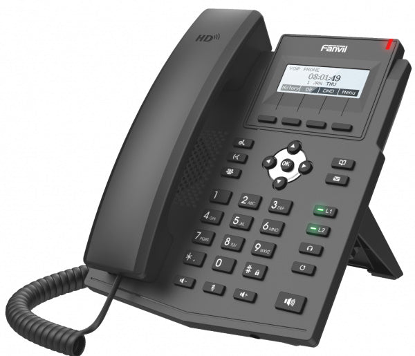 FANVIL X1SP IP Phone - 128x48 Dot Matrix Display, 2 Lines, Integrated POE, HD Audio w/ G.722 & Opus Front