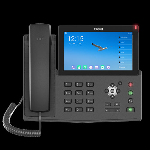 Fanvil X7A Android Touch Screen IP Phone, 112 DSS Keys, 7′ Colour Screen, Built in WiFI / Bluetooth, Android 9.0, 20 SIP Line, HD Audio Front