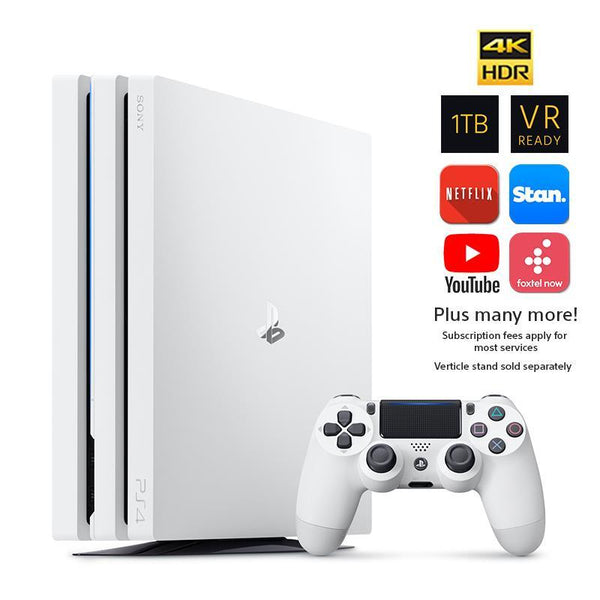 Gaming - PS4 PlayStation 4 1TB Pro Console & Extra Controller - White