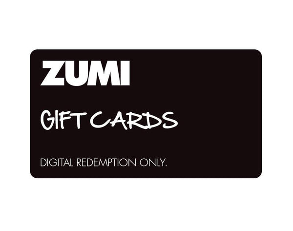 GIFT CARD - ZUMI GIFT CARDS