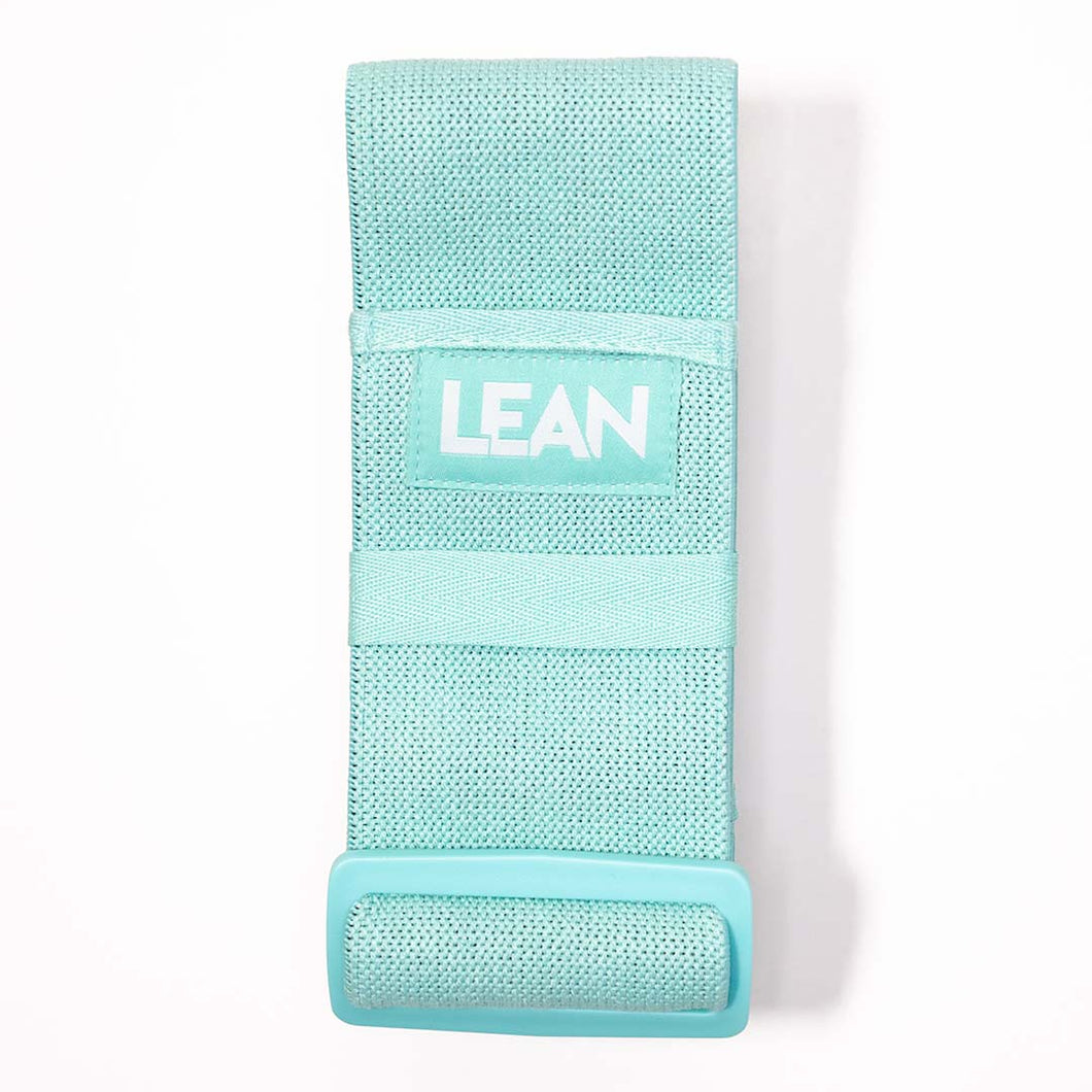 LEAN Adjustable Resistance Band. Fabric band perfect fojur different intensities of your workouts - simply adst the band to increase or decrease the resistance.