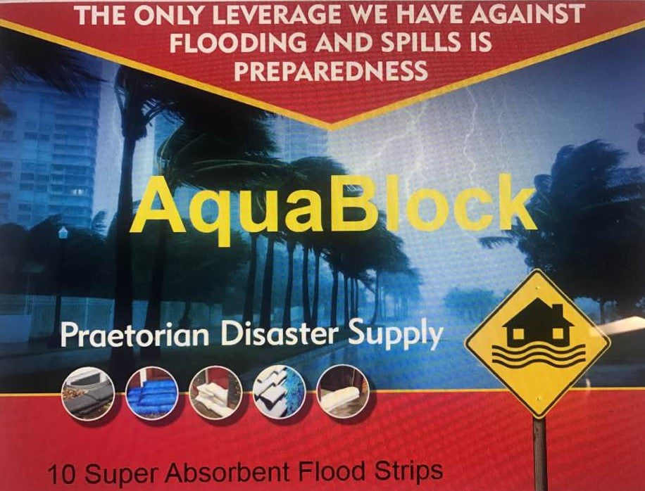 "AquaBlock-Super Absorbent Flood Strips (10) 27"" x 4.5"""